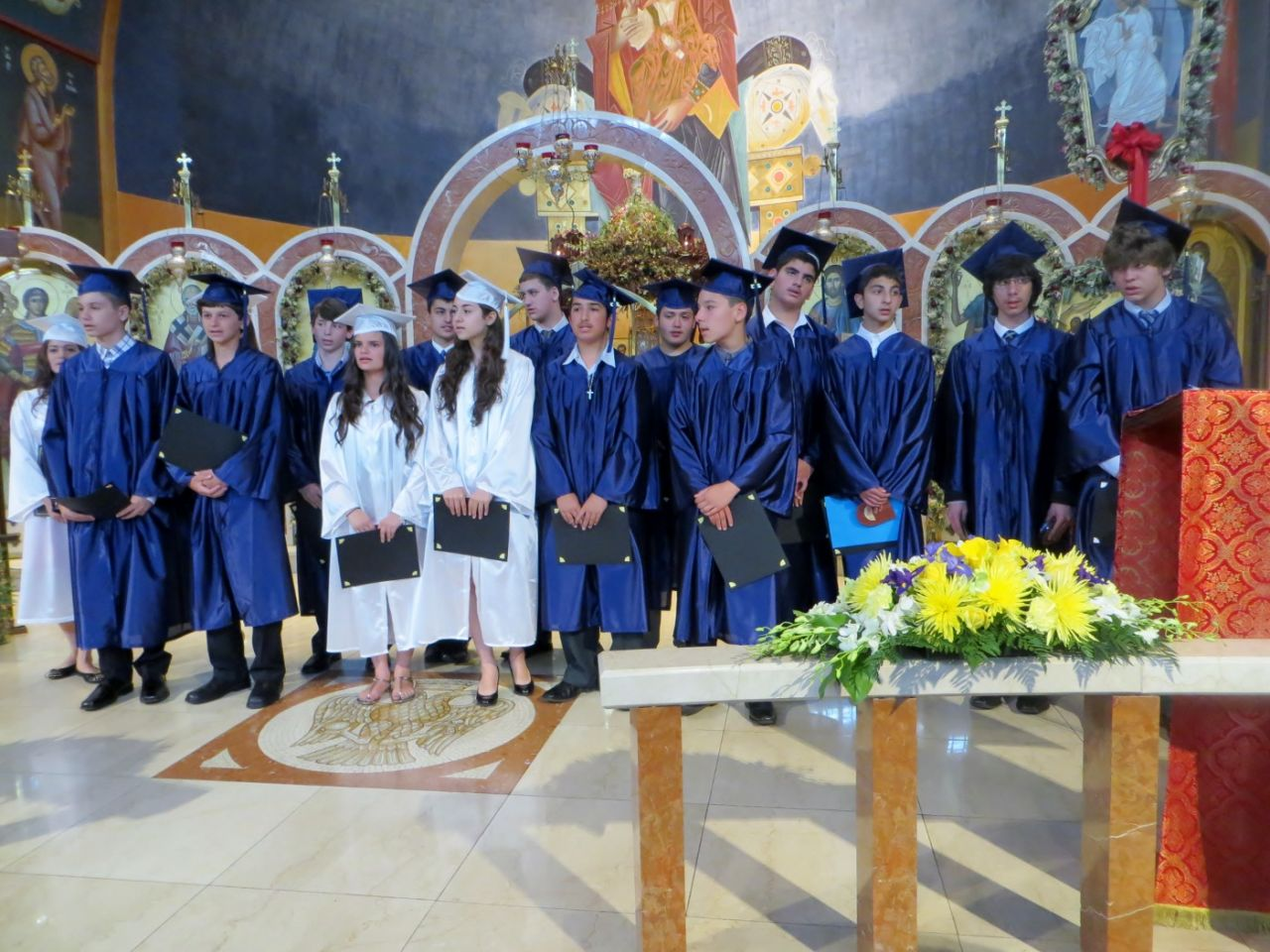 Tsounis St Nicks graduating class