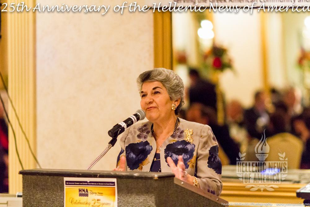 Stella Kokolis Honored at the 25th Anniversary of HNA