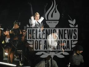 Madonna performs in New York City's Madison Square Garden