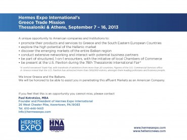 Hermes Expo's Trade Mission to Greece
