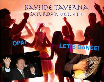 Taverna Night – Saturday, October 4th