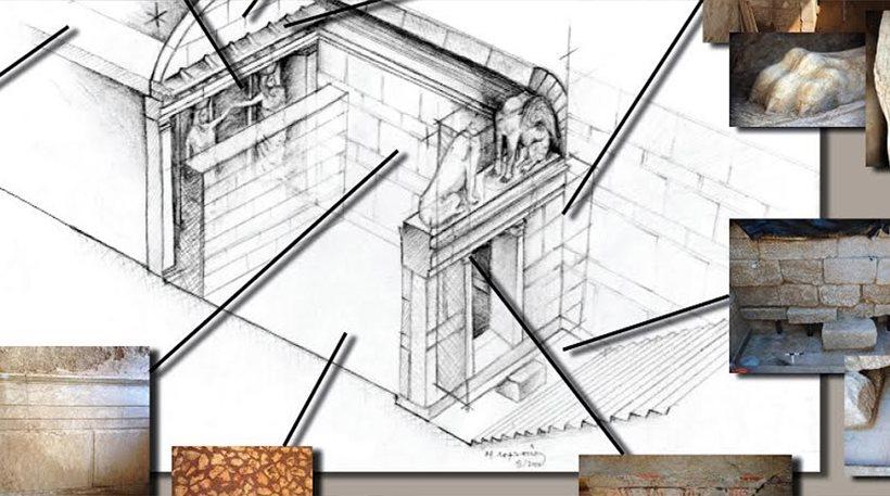 Ιδού ο τάφος της Αμφίπολης: Η πρώτη σχεδιαστική αναπαράσταση