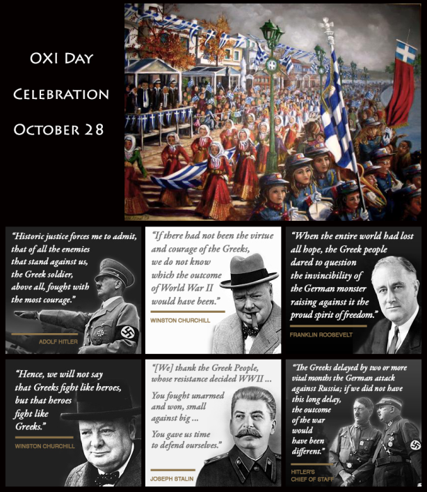 "Commemorating October 28th, 1940. THE ""OXI DAY"" AND THE ""GREEK SECRET"""