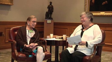 Exclusive Interview with U.S. Supreme Court Justice Ruth Bader Ginsburg by Marina Angel Professor of Law at Temple University Beasley School of Law