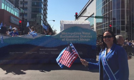 President Mariyana Spyropoulos Grand Marshal of Chicago Greek Independence Day Parade