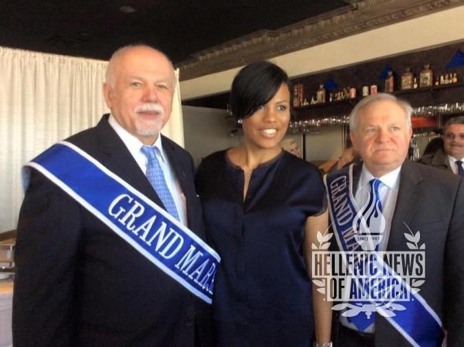 (L-R): Paul Kotrotsios, Stephanie Rawlings Blakes, Mayor of Baltimore, Dr. Panayiotis Baltazis