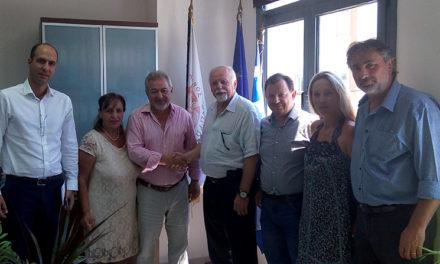 Συνάντηση του με τον κ. Παύλο Κοτρώτσιο, εκδότη και διευθυντή της Εφημερίδας «Hellenic News Of America»