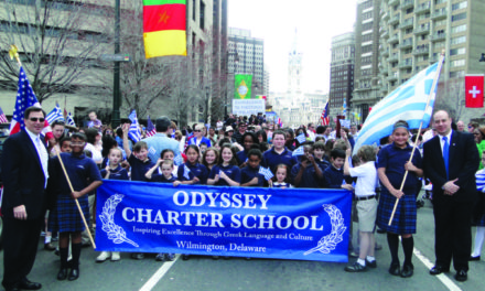 ODYSSEY CHARTER SCHOOL CELEBRATES 10TH ANNIVERSARY IN COLLABORATION WITH MUNICIPALITY OF ANCIENT OLYMPIA, 2016 GREEK OLYMPIANS, AND THE OLYMPIC FLAME