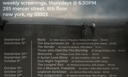 FILM SERIES, THE REFUGEE CRISIS: FILMS FROM THE BORDERS OF EUROPE (Beginning THIS Thursday)