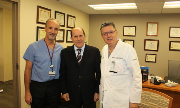 Dr. Stefanos Foussas, President of the Cardiological Society in Athens, Greece Visits Dr. Konstadinos Plestis, System Chief of Cardiothoracic and Vascular Surgery at Lankenau Heart Institute of Main Line Health