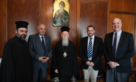 Επίσκεψη του Επικεφαλής της Γενικής Γραμματείας Απόδημου Ελληνισμού κ. Μιχάλη Κόκκινου στο Οικουμενικό Πατριαρχείο