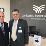 Dr. Stefanos Foussas, President of the Hellenic Cardiological Society of Athens, Greece visits Dr. Konstadinos Plestis, System Chief of  Cardiothoracic and Vascular Surgery at the Lankenau Heart Institute