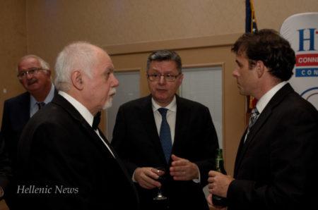 L-R: Paul Kotrotsios, Dr. Konstadinos Plestis and George Rassias, Esq.