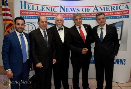 L-R: Dr. Gregori Foussas, Dr. Stefanos Foussas, Paul Kotrotsios, Dr. George Patoulis and Dr. Konstadinos Plestis