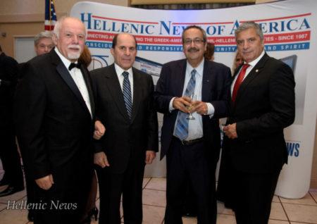 L-R: Paul Kotrotsios, Dr. Stefanos Foussas, Dr. Spiro Spireas and Dr. George Patoulis