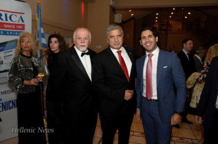 L-R: Paul Kotrotsios, Dr. George Patoulis and Christos Marafatsos