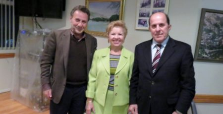 Prof. Nicholas Alexiou, Director Chrisoula Zikopoulos  and Dr. Stefanos Foussas.