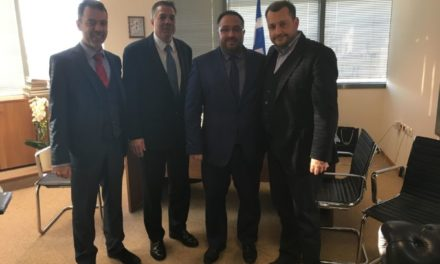 O Επικεφαλής της Γενικής Γραμματείας Αποδήμου Ελληνισμού, κ. Μιχάλης Κόκκινος είχε συνάντηση με τον Lou Raptakis, πολιτειακό γερουσιαστή του Rhode Island και τον Tom Katsiantonis, πρόεδρο της Παγκόσμιας Διακοινοβουλευτικής Ένωσης Ελληνισμού (ΠΑΔΕΕ).