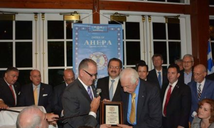 AHEPA Delphi Chapter #25 Honors Judge Nicholas Tsoucalas