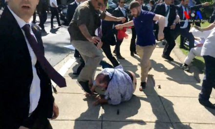 Violent Action of Turkish President Erdogan's Security Personnel