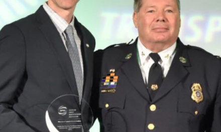 Colonel John E. Gavrilis, Chief of MTA Police received Gold Award for security