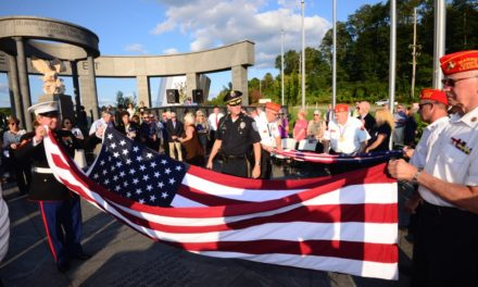 Delco Bar Association Casket Flag Raising for member Veterans – Delco Top Names in the Legal Community