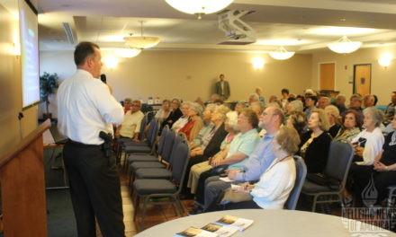 Detective offers St. Luke's seniors fraud prevention advice at St. Luke's Greek Orthodox Church in Broomall, PA