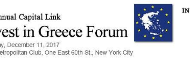 19th Annual Capital Link Invest in Greece Forum