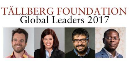 The Tällberg Foundation Announces Winners of its Eliasson Global Leadership Prize