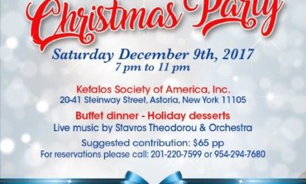 Hellenic Relief Foundation Sponsors a Christmas Party on December 9, 2017