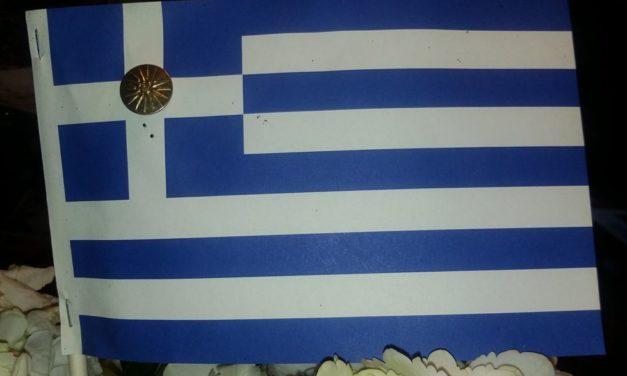 Ancient symbol on flag honors Greece's past