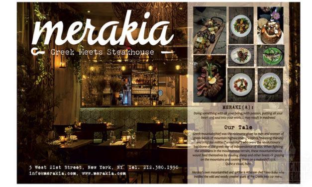 TO STEKI TIS PAREAS: TA MERAKIA, A GREEK STEAKHOUSE IN NEW YORK CITY