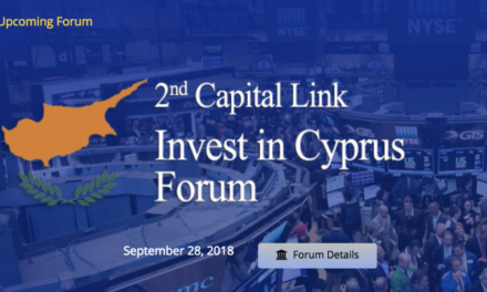Join President Nicos Anastasiades at Capital Link 2nd Invest in Cyprus Forum – Friday, September 28, 2018 in NYC