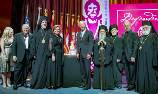 ather Alex and Presbytera Xanthi Karloutsos Honored with the 2018 Athenagoras Human Rights Award