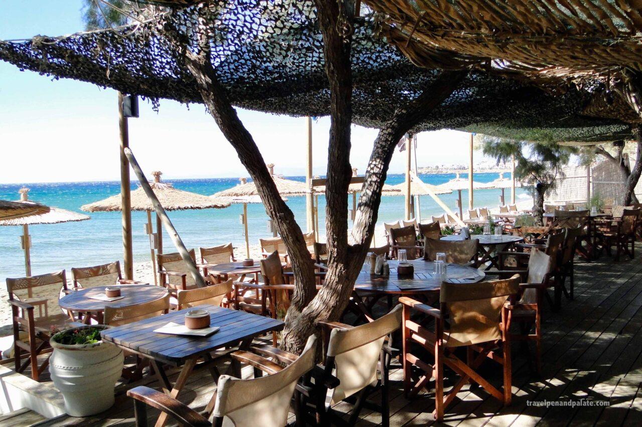 Greek beach bar