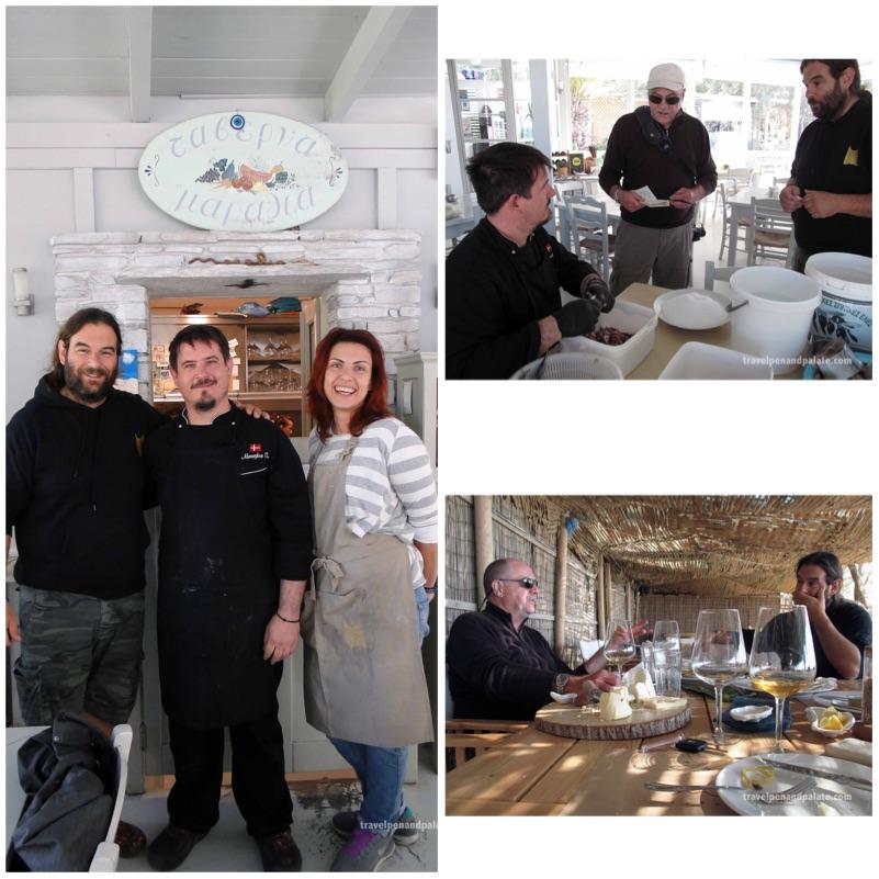 restaurant staff and author/chef